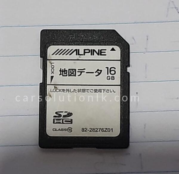 ALPINE VIE-X007II Original Map SD Card