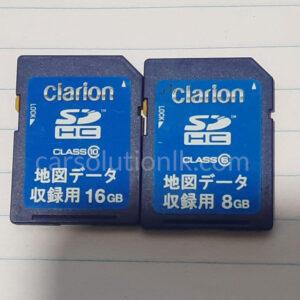 CLARION GCX675 MAP SD CARD