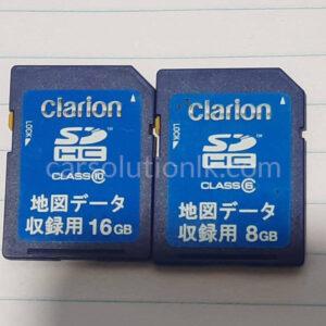 CLARION GCX676 MAP SD CARD