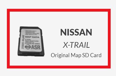 NISSAN X-TRAIL Original Map SD Card