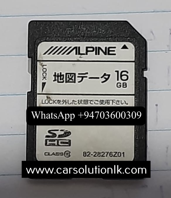 ALPINEVIE-X007W-B MAP SD CARD