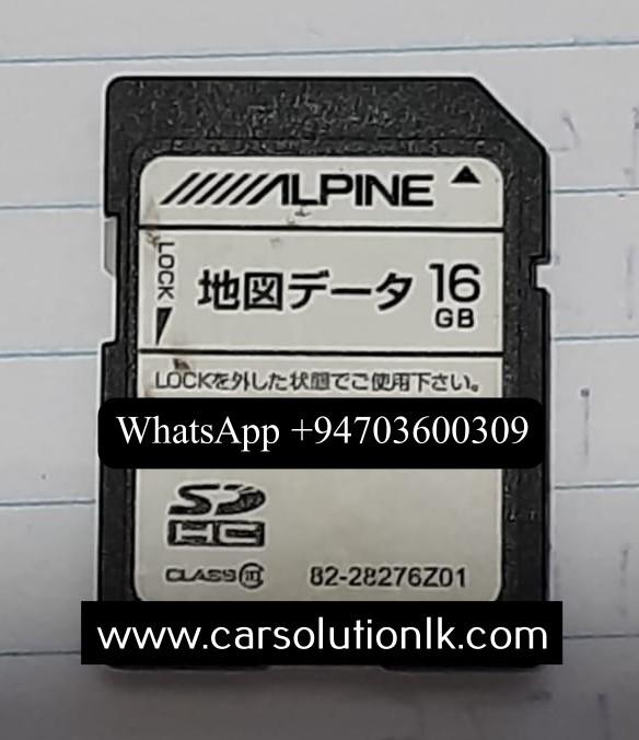 ALPINE VIE-X800 MAP SD CARD