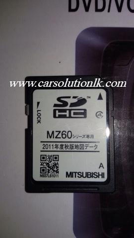 MITSUBISHI NR-MZ60 MAP SD CARD