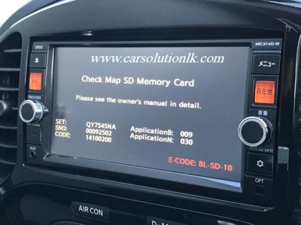 MC314 MAP SD CARD